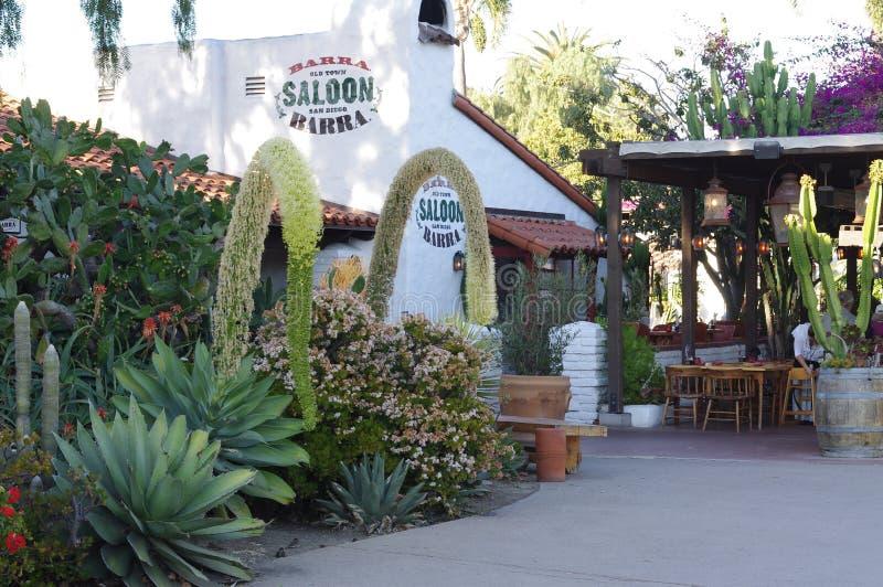 Uno de restaurantes en la ciudad vieja San Diego fotos de archivo libres de regalías
