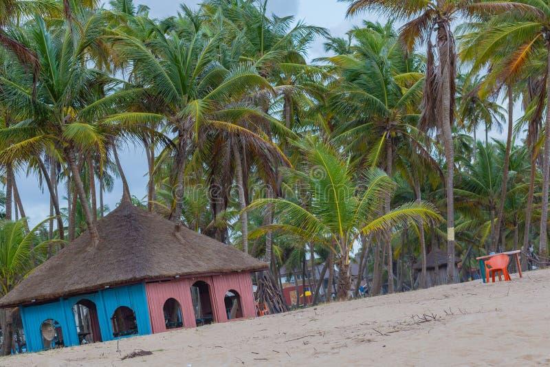 Uno dei gazebos nella stazione balneare Lekki Lagos Nigeria di Campagne della La fotografia stock