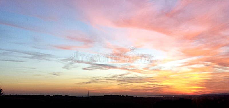 Uno dei tramonti del ` s di Brighton immagine stock