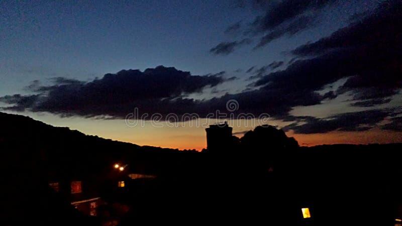 Uno dei tramonti recenti del ` s di luglio fotografie stock libere da diritti