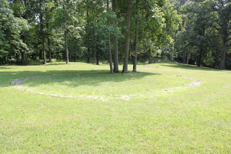 Uno del cerchio di pietra al memoriale antico forte dello stato fotografia stock libera da diritti