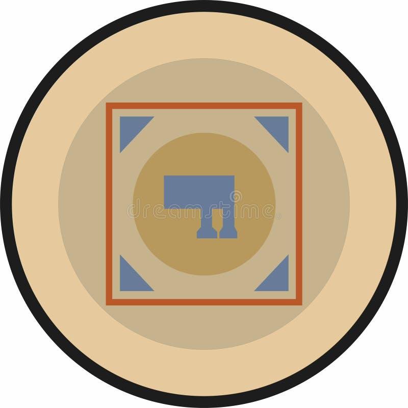 Uno del logo del segno di Solomon più conosciuto con i medio evo differenziali colora lo schema illustrazione vettoriale