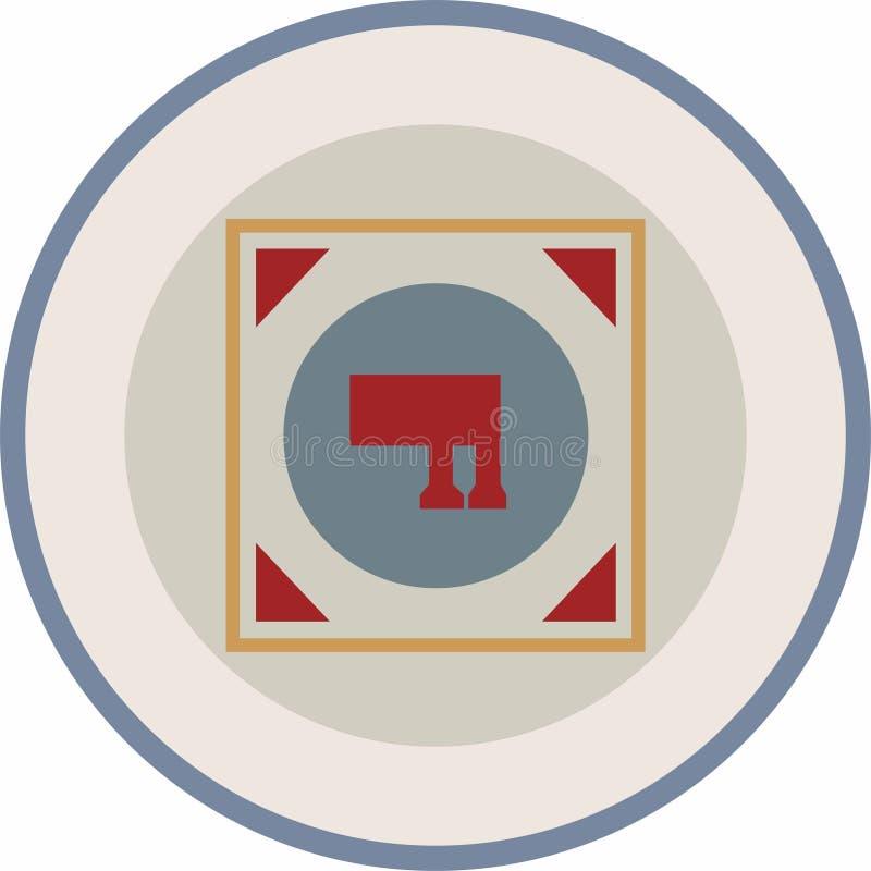 Uno del logotipo sabido de la muestra de Solomon con Edades Medias colorea el esquema stock de ilustración