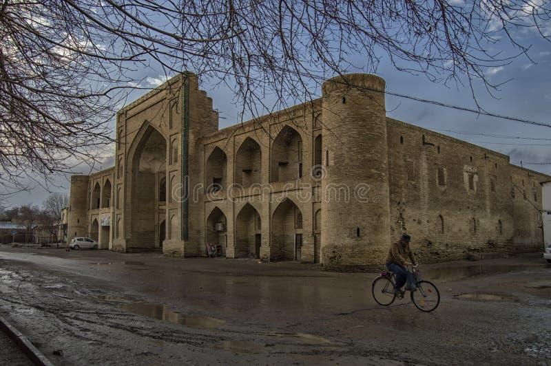 Uno del Madrases a Buchara, l'Uzbekistan fotografia stock libera da diritti