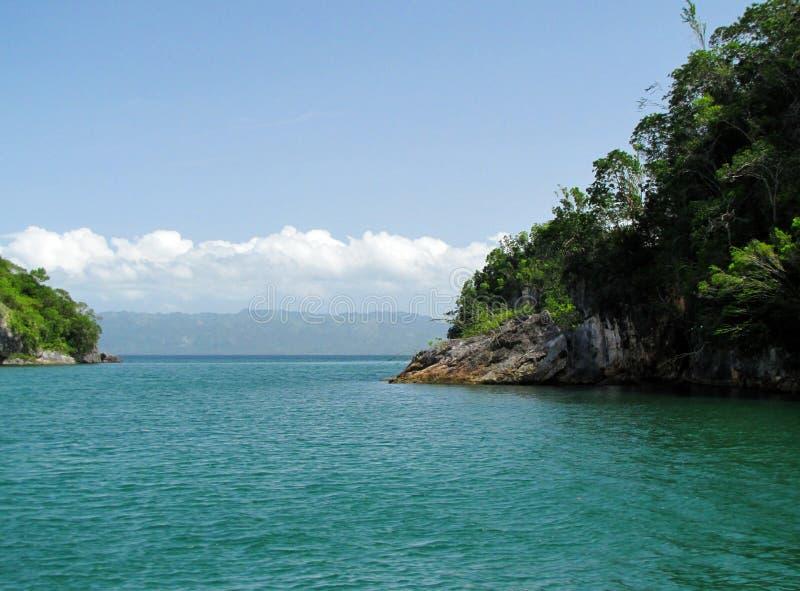 Uno dell'isola di Los Haitises in Samana immagine stock