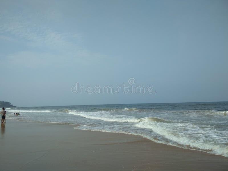 Uno della spiaggia più fine di Goa immagine stock
