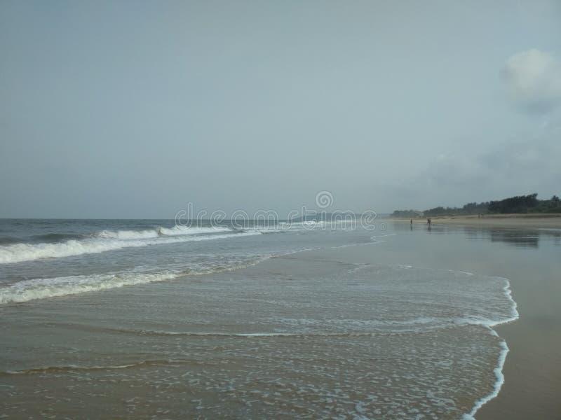 Uno della spiaggia più fine di Goa immagini stock