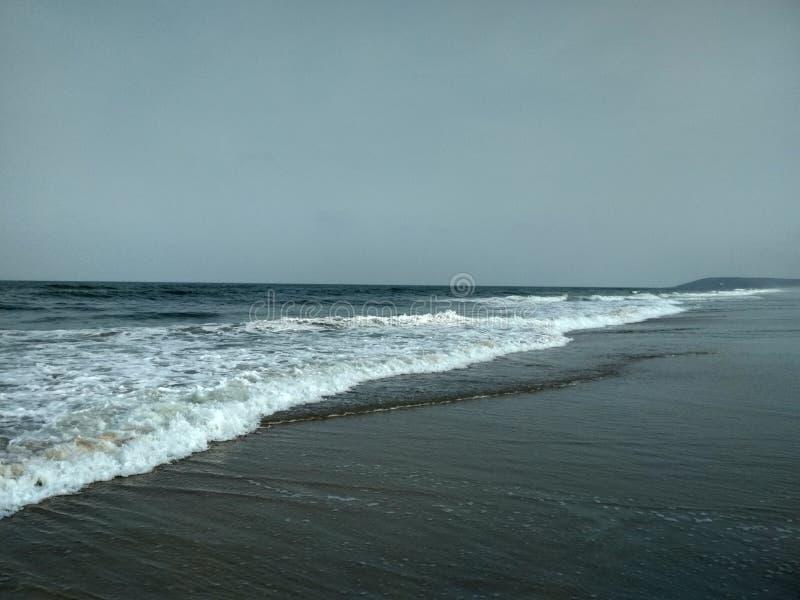 Uno della spiaggia più fine di Goa fotografie stock