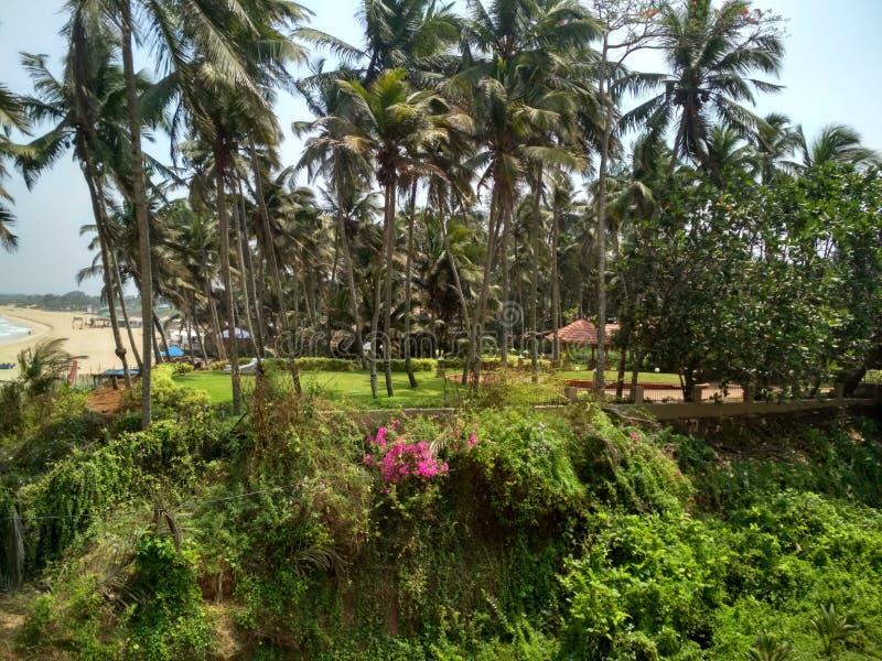 Uno della spiaggia più fine di Goa fotografia stock