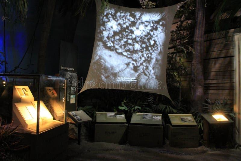 Uno di molti mostre muoventesi all'attrazione di numero uno, museo di WWII, New Orleans, 2016 immagini stock