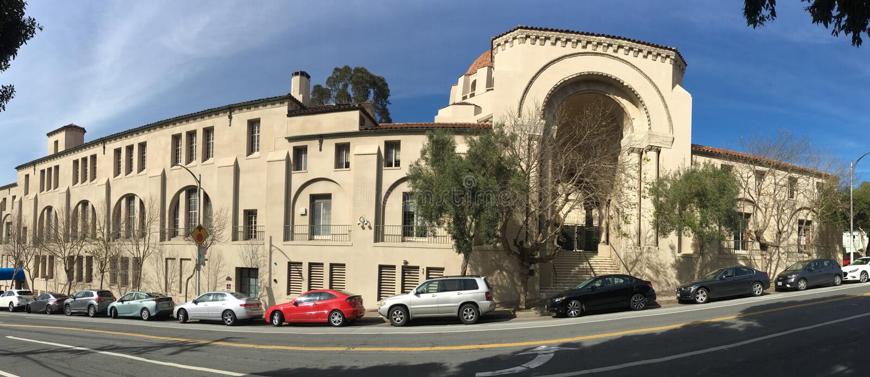 Uno di più vecchio ` s della sinagoga due in California, 3 fotografie stock libere da diritti