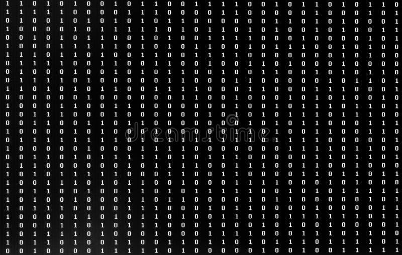 Uno e zero sul monitor illustrazione vettoriale