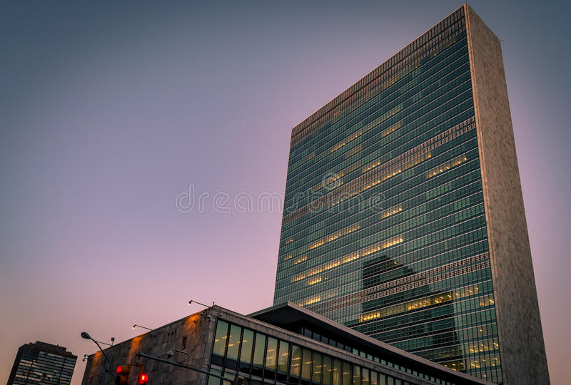 UNO-Gebäude in New York lizenzfreies stockfoto