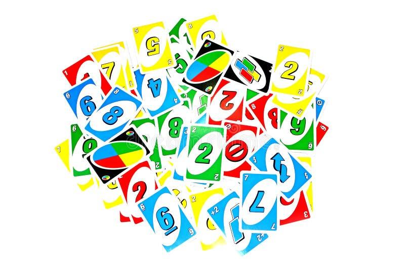 Uno kaart royalty-vrije stock foto
