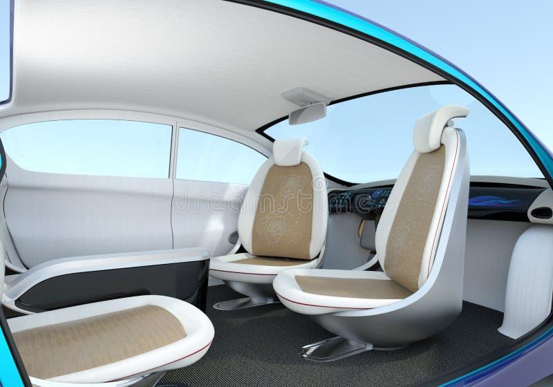 Uno mismo-conducción de concepto del interior del coche libre illustration
