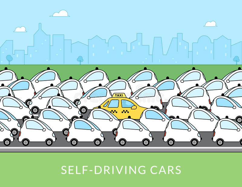 Uno mismo-conducción del ejemplo infographic del coche libre illustration