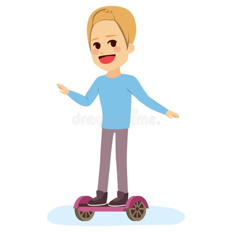 Uno mismo del adolescente que equilibra Scotter stock de ilustración