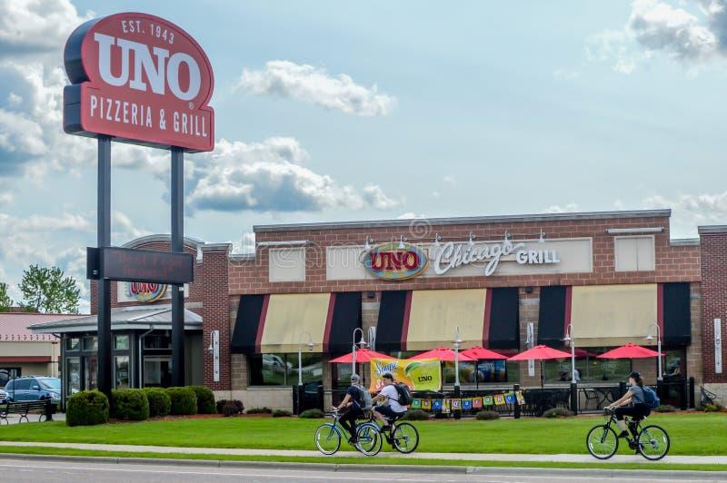 Uno Pizzeria e Grill - Wisconsin Dells, WI imagens de stock royalty free