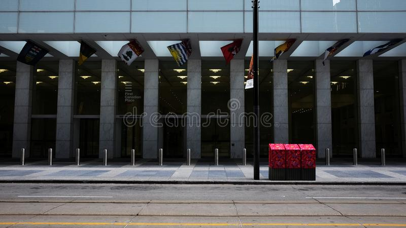 Uno scape della città a Toronto Canada immagini stock