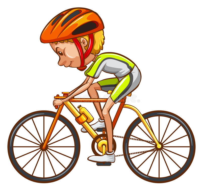 Uno schizzo di un ciclista royalty illustrazione gratis