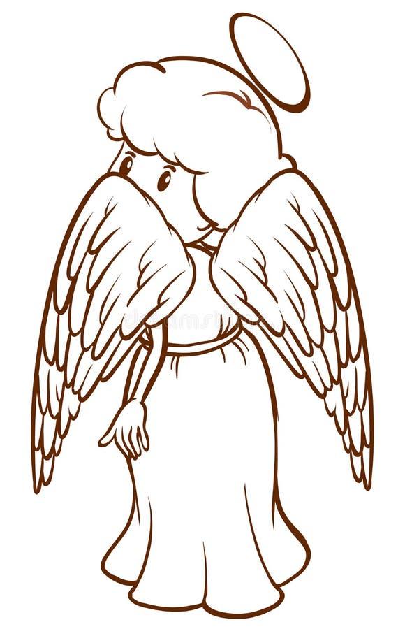 Uno schizzo normale di un angelo illustrazione di stock