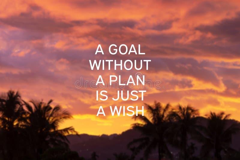 Uno scopo senza un piano è appena un desiderio fotografie stock