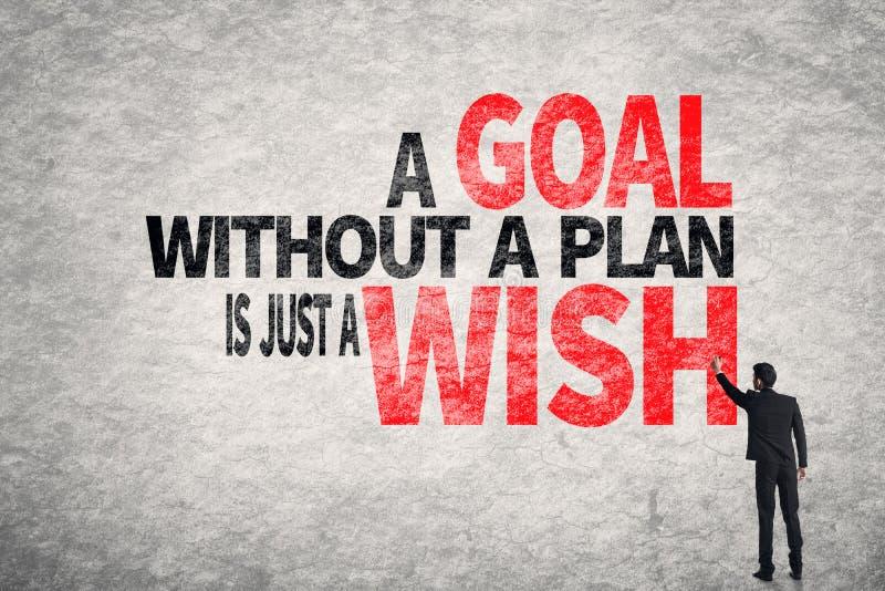 Uno scopo senza un piano è appena un desiderio fotografia stock libera da diritti