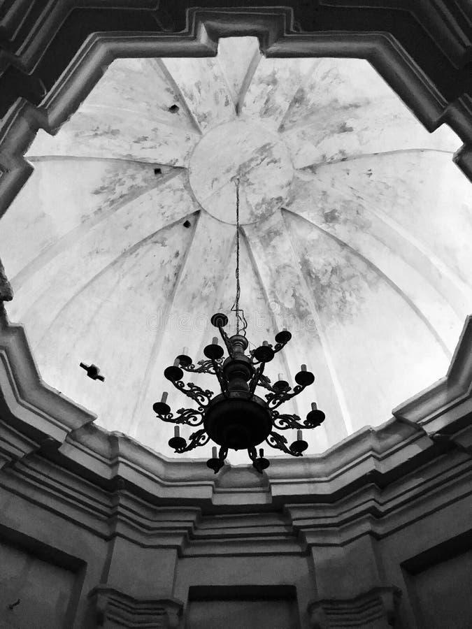 Uno sguardo in bianco e nero ad Anthony Caves del monastero di Trinità-Elias in Cernihiv fotografie stock