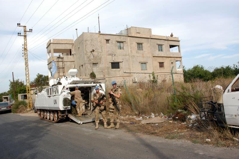 UNO-Soldaten der Libanon stockbilder