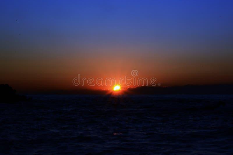 Uno spettacolo fantastico di alba fotografia stock