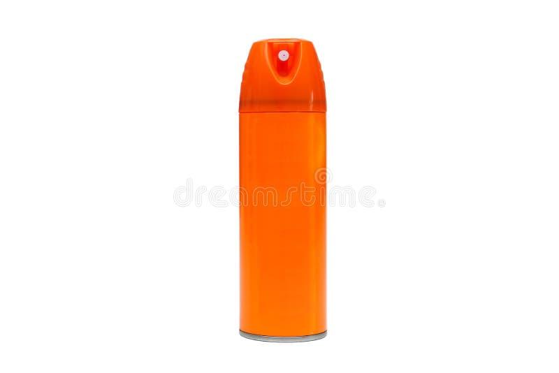 Uno spruzzo imbottiglia il colore arancio immagine stock