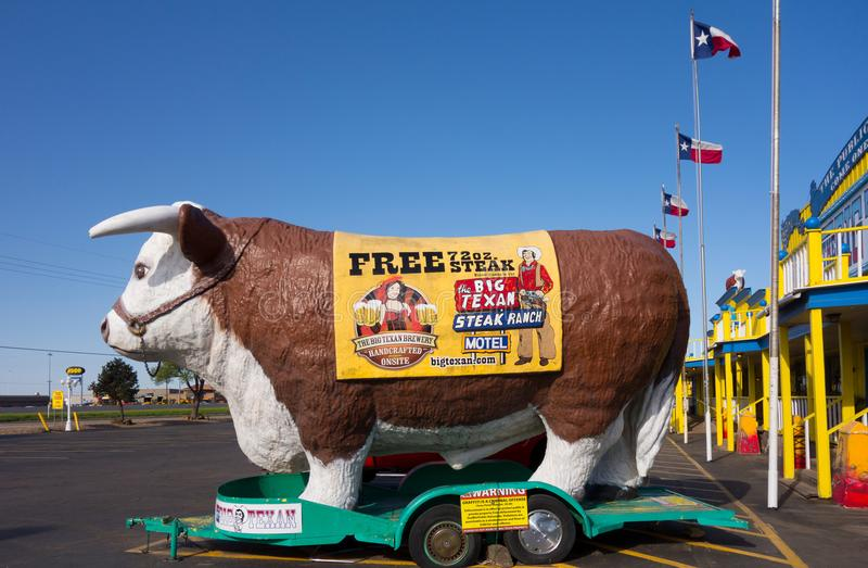 Uno steakhouse famoso nel Texas fotografia stock libera da diritti