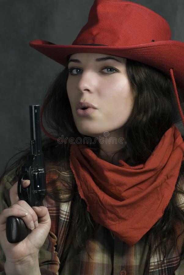 In uno stile di film occidentale immagine stock