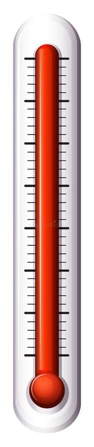 Uno strumento di misura per la temperatura illustrazione di stock