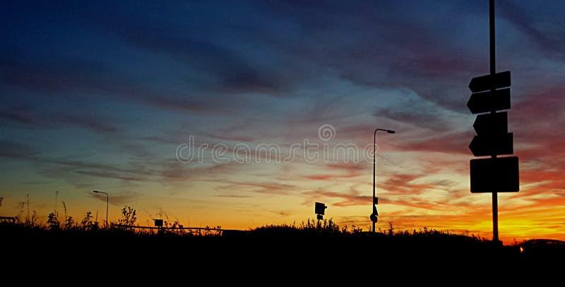 Uno tramonti del ` s di settembre di bei sopra Brighton immagini stock
