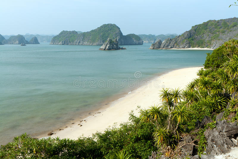 Unoccupied beach in Vietnam royalty free stock photo
