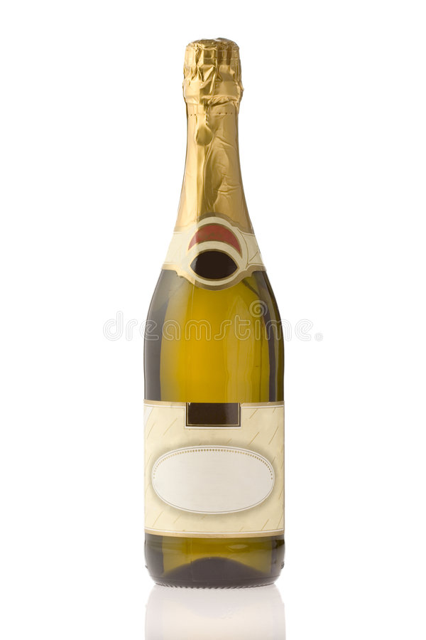 Unopened expensive champagne royalty free stock photos