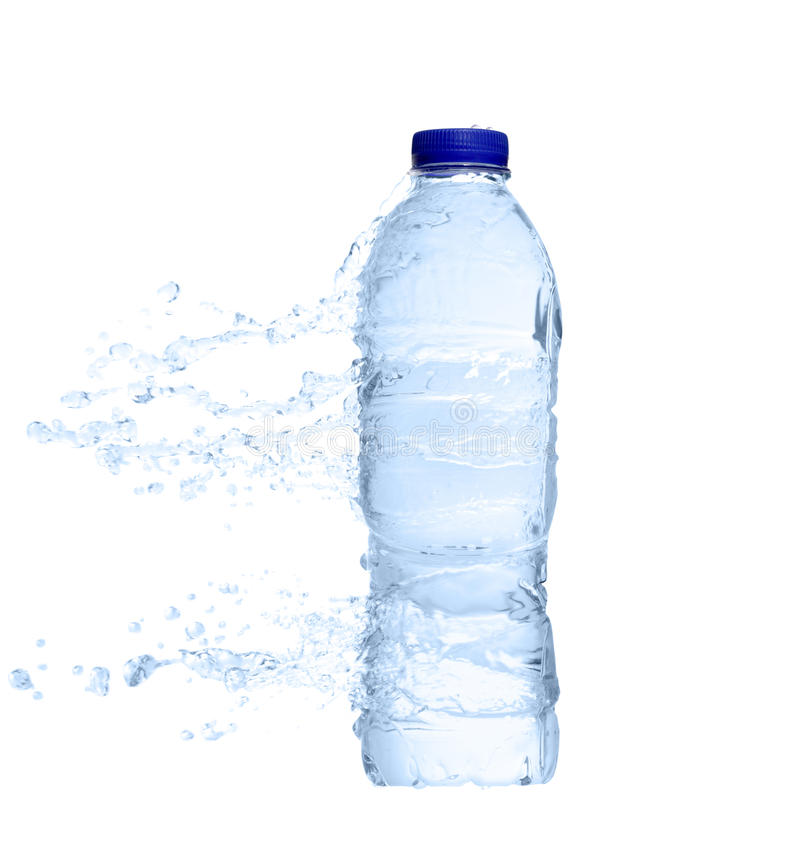 Download Unopened Plastic Water Bottle  With Water Splash Stock Image - Image: 16046615