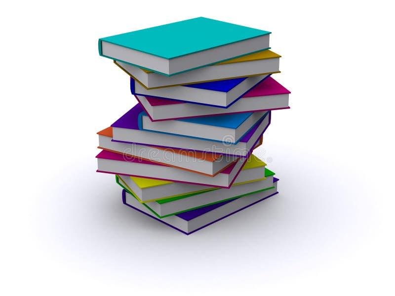 Unordentlicher Stapel Bücher stock abbildung