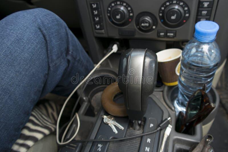 Unordentliches Fahrerauto lizenzfreie stockbilder