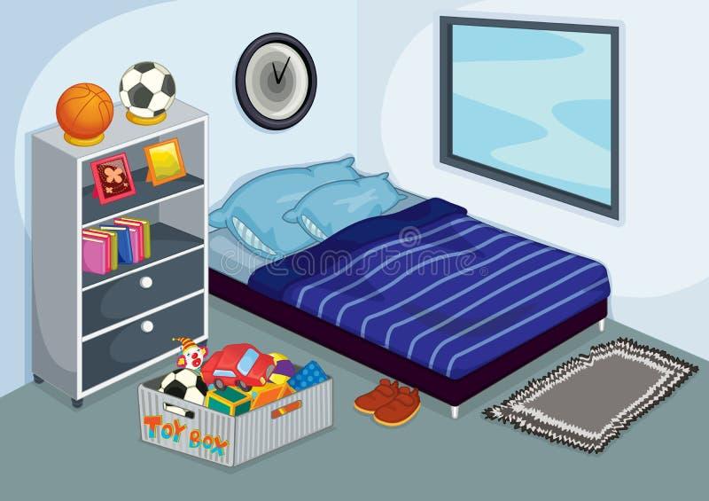 Unordentliches Schlafzimmer lizenzfreie abbildung