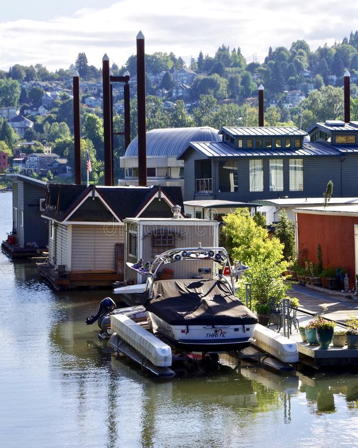 Unosić się domy, Portland, Oregon, usa obraz royalty free