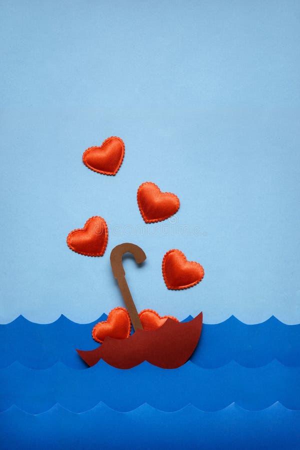Unosić się w miłości morzu zdjęcia royalty free