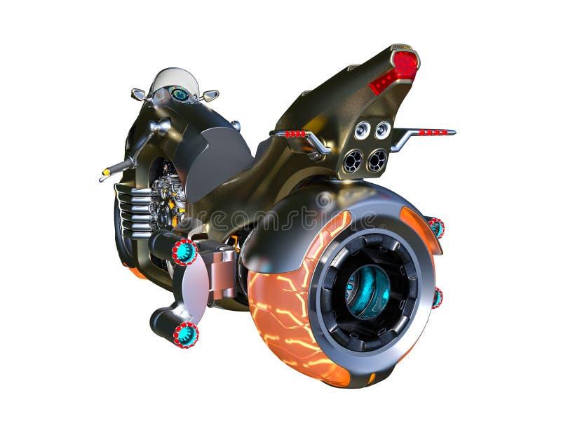 Unosi się rower ilustracji