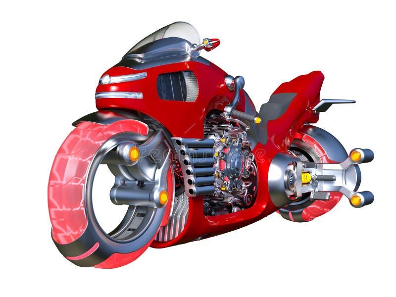 Unosi się rower ilustracja wektor