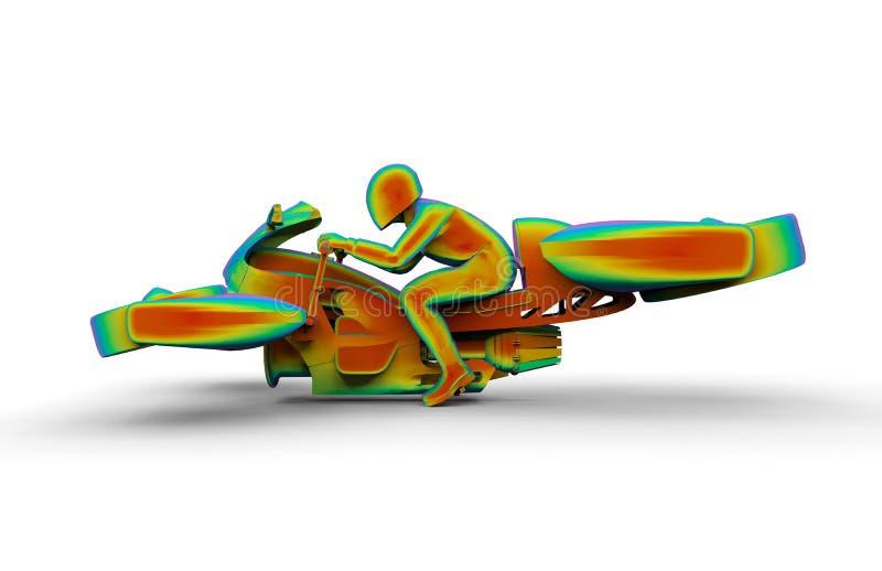 Unosi się roweru ograniczonego elementu analizę ilustracji