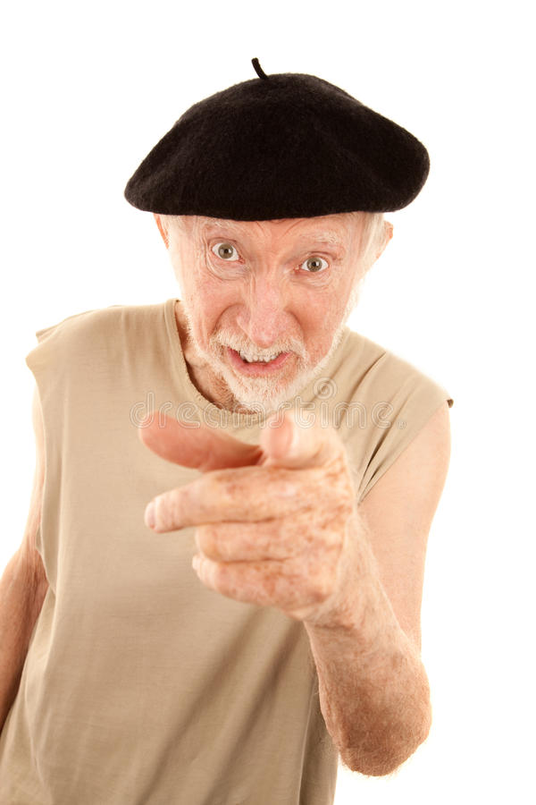 Unpleasant Senior Man Stock Photos