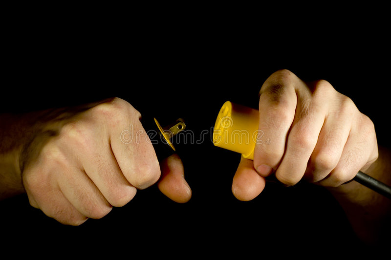 Download Unplugged stock photo. Image of electricity, yellow, plug - 1896652