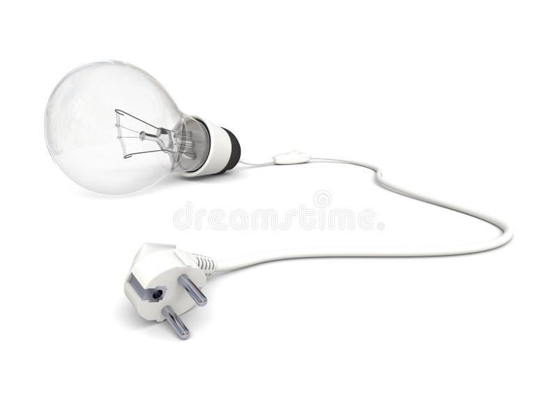 Download Unplugged lightbulb stock illustration. Illustration of power - 26987960