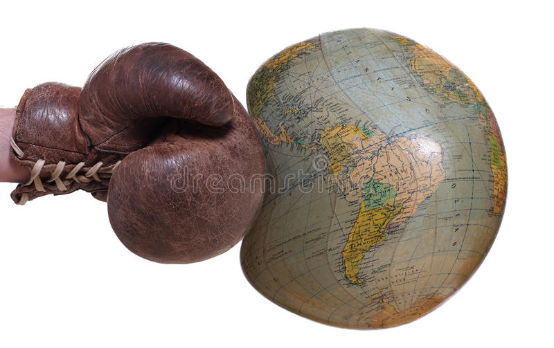 Unprotected globe. On white background stock image